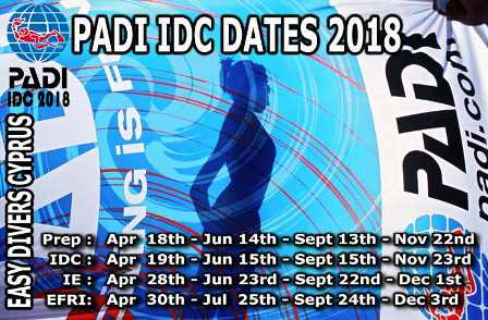 Padi IDC Dates in Cyprus - padi instructor courses